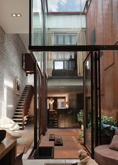 The Inverted Warehouse/Townhouse by Dean/Wolf Architects is an...
