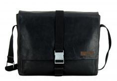 !!!Collegetasche Strellson Goldhawk Klickverschluss Leder schwarz Messenger Bag, Laptop, Bags, Fashion, Dime Bags, Leather, Black, Handbags, Moda
