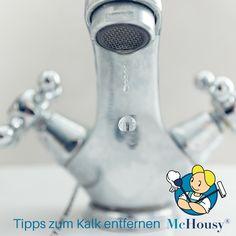 Anleitung zum Kalk entfernen von McHousy Egal ob im Badezimmer, in der Küche oder im Wasserkocher: Nach einer Zeit entstehen überall unschöne Kalkflecken! McHousy zeigt dir, wie du den Kalk am schnellsten los wirst!