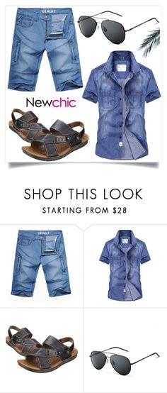 """""""newchic6"""" by merisa-imsirovic ❤ liked on Polyvore featuring men's fashion and menswear"""