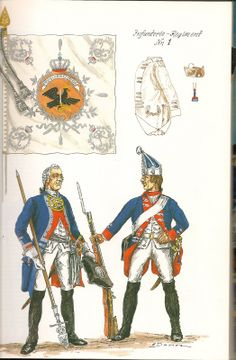 The Army of Frederick The Great of Prussia 1750. Infantry Regiment No.1