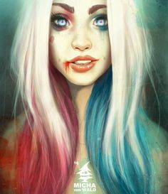 Harley Quinn. Okay I am not a massive fan of the look.. But this good art so I'll pin it.