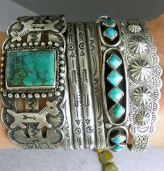 Big Wide Fred Harvey Dogs Horses Thunderbirds Turquoise Navajo Cuff Bracelet | eBay