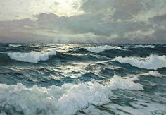 Frederick Judd Waugh, The Open Sea, oil on masonite. 22 3/4 inches by 32 1/2 inches.