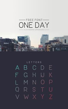 One Day – Geometric Free Font Graphic Design Fonts, Graphisches Design, Typography Design, Interior Design, Typography Inspiration, Graphic Design Inspiration, Typographie Fonts, Minimalist Font, Crea Design