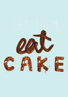 8 Delicious Examples of Food Typography - DuoParadigms Public Relations & Design, Inc. Food Typography, Typography Letters, Typography Design, Food Font, 7 Cake, Scrapbooking, Creative Cakes, Let Them Eat Cake, Dessert