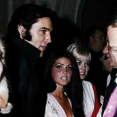 At a party for Nancy Sinatra in Las Vegas, 1969. #elvispresley #priscillapresley