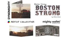 Boston Strong by Aleka Dimos Mighty Wallet, Boston Strong, American, Cover, Artist, Books, Libros, Book, Book Illustrations