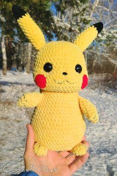 PIKACHU CROCHET PATTERN – Pokemon Amigurumi Pdf pattern – Pokemon Crochet Pattern – Plush pokemon Pikachu – Detective Pikachu stuff toy – Knitting patterns, knitting designs, knitting for beginners. Pokemon Crochet Pattern, Pikachu Crochet, Crochet Patterns Amigurumi, Amigurumi Doll, Knitting Patterns, Crochet Penguin, Pikachu Pikachu, Pokemon Plush, Pokemon Pokemon
