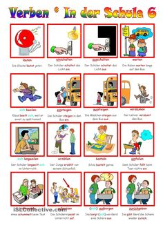 German grammar - School verbs 6