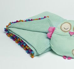Jiggle and Giggle Pom Pom Fleece Throw Embroidered Towels, Coin Purse, Coin Purses