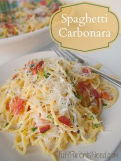 Hands-down, this is my all-time favorite meal. Spaghetti carbonara done perfectly! Here's the recipe! Ciao!