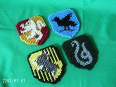 Harry Potter Hogwarts House Crest Magnets by SnarkyLittleStitcher, $8.00