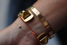 teeny tiny skull bracelet - love small details