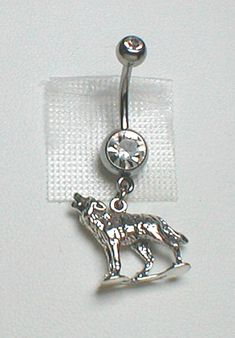 Unique Belly Ring  Sterling Silver Wolf by pondgazer2004 on Etsy, $21.95