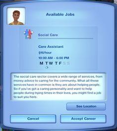 Mod The Sims - Social Care Career