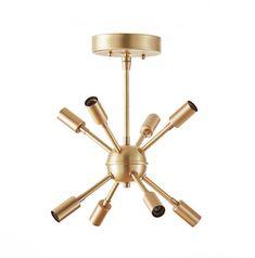 Mid Century Modern Petite Sputnik Chandelier by LucentLightshop