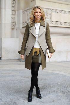 Alexandra Golovanoff, Via NYMag. I must has this coat!