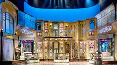 """The centerpiece of our design is a """"jewel-box"""" parfumerie that pivots open to reveal the store's elegant interior. - The She Loves Me Broadway set Set Design Theatre, Stage Design, Interior Design Magazine, Royal Ballet, Broadway, Body Painting, Rockwell Group, Big Design, Modern Design"""