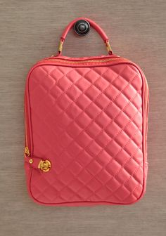 """I might get an iPad just for this cute case.   Quilted Delight IPad Case In Pink 34.99 at shopruche.com. Keep your iPad safe from bumps and scratches with this coral pink iPad case in quilted leatherette. Finished with an optional shoulder straps, a padded interior, and a zipper and push lock closure.9"""" L x 12"""" H x 2.25"""" W, -3"""" strap drop, -1 interior zipper pocket, -2 interior organizer pouches"""
