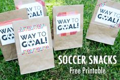 Free Printable for Soccer Snack Tag