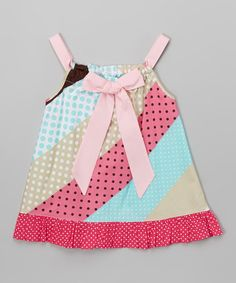 Loving this Pink Stripe Pillowcase Dress - Toddler & Girls on #zulily! #zulilyfinds