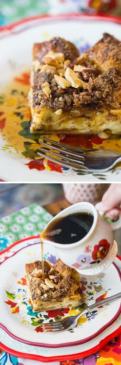 This recipe for Panettone French Toast Casserole can be prepared a day in advance and soaked overnight. Perfect for a delicious Christmas morning breakfast!