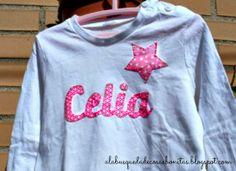 A la búsqueda de Cosas Bonitas: Camiseta con nombre para niña