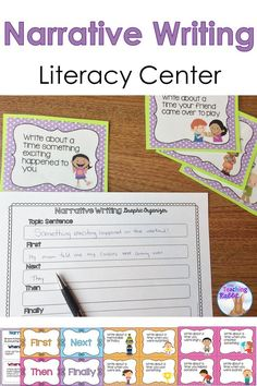 You can use these writing prompt task cards, graphic organizers, & writing papers to help guide your students through writing a personal narrative.  Great for 1st & 2nd grade!