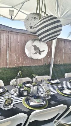 Nightmare Before Christmas baby shower party! See more party planning ideas at CatchMyParty.com!
