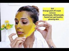 DIY: Orange Peel Off Mask / Remove Blackheads,Whiteheads,Facial hair / Get Glowing Skin - YouTube #PeelOffMaskHomemade #ClearSkinBody #EyelinerProducts #CharcoalMaskBenefits