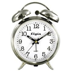 Elgin QA Twin Bell Alarm Clock