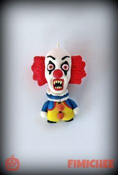 """Pennywise Stephen King's """"It""""  Halloween fimo Handmade polymer clay fimo"""