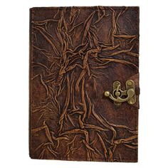 Wrinkled Pattern On A Brown Refillable Leather by ALittlePresent, £29.99