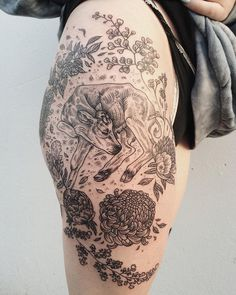 Tattoos of Flora and Fauna Reminiscent of Woodcut Etchings by Pony Reinhardt | Colossal