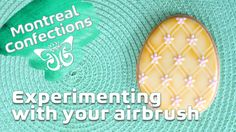 How to use a stencil with your airbrush - Airbrush cookie decorating