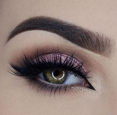Pink glitter shadow