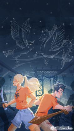 Arte Percy Jackson, Dibujos Percy Jackson, Percy Jackson Annabeth Chase, Percy And Annabeth, Percy Jackson Memes, Percy Jackson Books, Percy Jackson Fandom, Percabeth, Solangelo