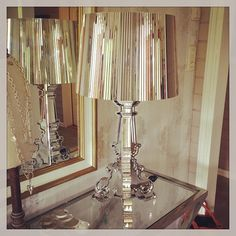 Bourgie lamp by Ferruccio Laviani: gold reflections | via Instagram - Thanks to @Rebekka Fylling
