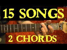 2 CHORDS - 15 EASY SONGS for Beginners!! ( Including The Beatles, Nirvana...) by BobbyCrispy - YouTube