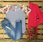 Love this look from The Pink Suitcase Pink Suitcase, Holiday Boutique, Missoni, Chiffon Tops, Stylish, Tees, Lace, Clothes, Women