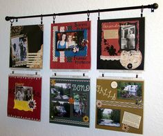 Scrapbook Wall by palbertson, via Flickr