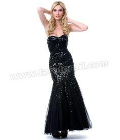 Black Sequined Mermaid Gown