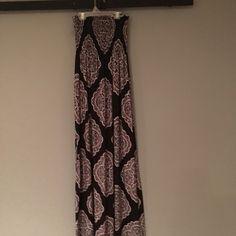 Maxi dress Black pattern strapless maxi dress size small Dresses Maxi