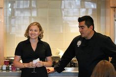 BlueStar VP of Marketing Eliza Sheffield with Chef Jose Garces at the Institute of Culinary Education