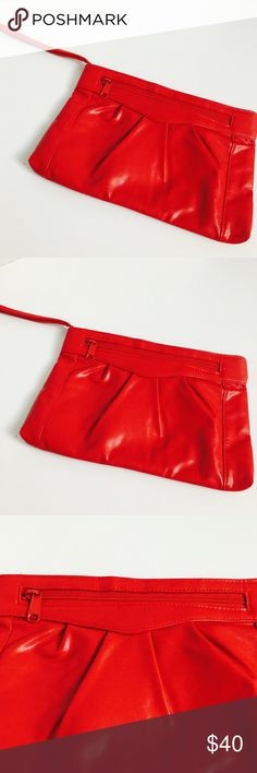 Vintage Red Clutch Wallet! In excellent condition! Bags Wallets