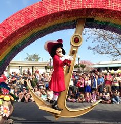Finding Pirates at Disney World - Captain Hook on the Peter Pan float in Disney's Festival of Fantasy Parade in the Magic Kingdom.