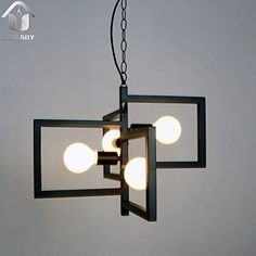 UNITARY BRAND Black Vintage Barn Metal Hanging Ceiling Pendant Light Max. 160W With 4 Lights Painted Finish Unitary