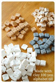 100均粘土で簡単!アルファベットタイルの作り方☆