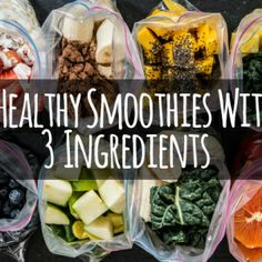 3 ingredient healthy smoothies. Perfect for lazy girls like me ;)